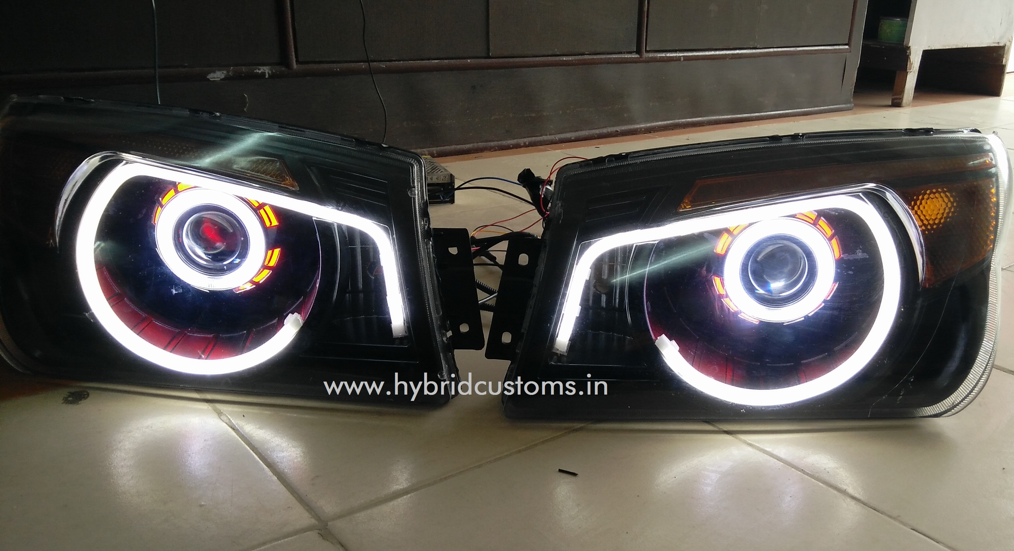 Bolero custom Projector Headlights Hybrid customs