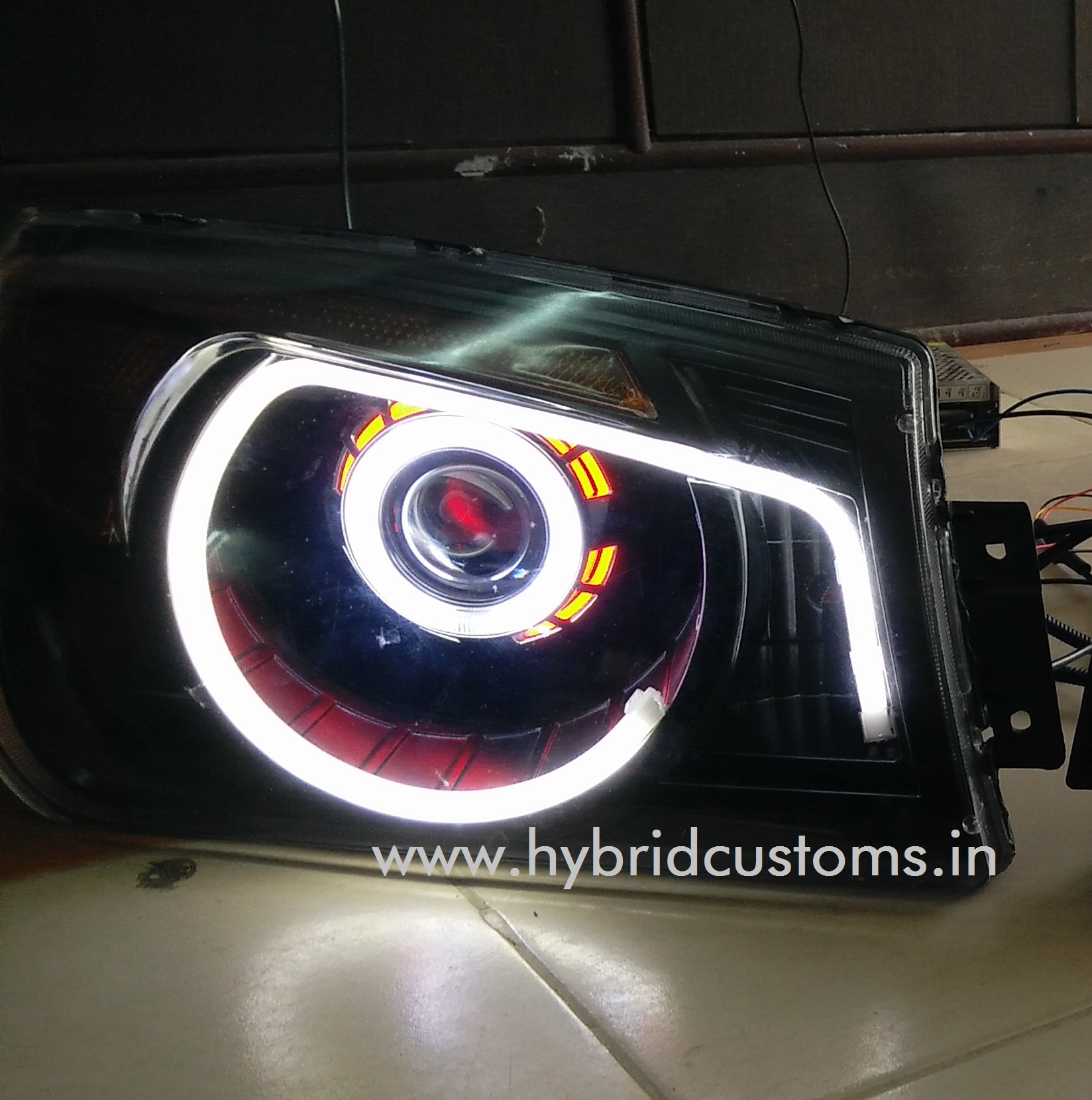 bolero custom projector headlights hybrid customs