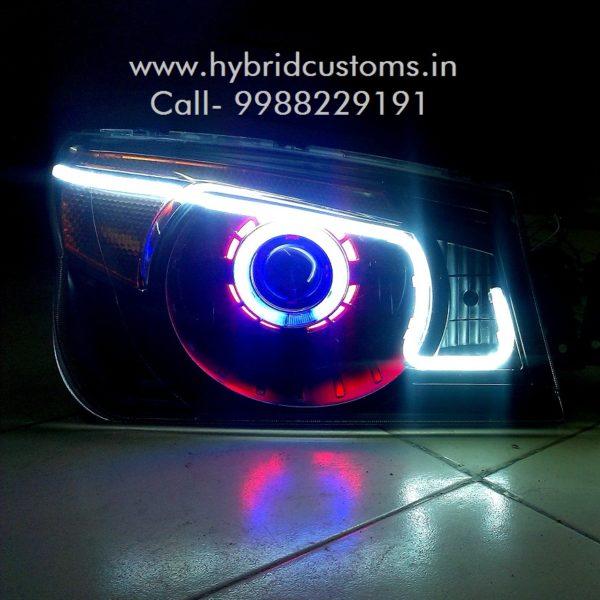 Mahindra bolero projector custom headlight style 3 for Color vibe rapid city