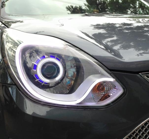 ford figo custom projector headlights type  hybrid customs