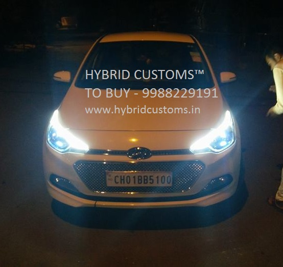 Hyundai i20 Elite eyebrows DRL (Daytime Running Lights)