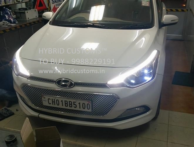 Hyundai I20 Elite Eyebrows DRL Daytime Running Lights