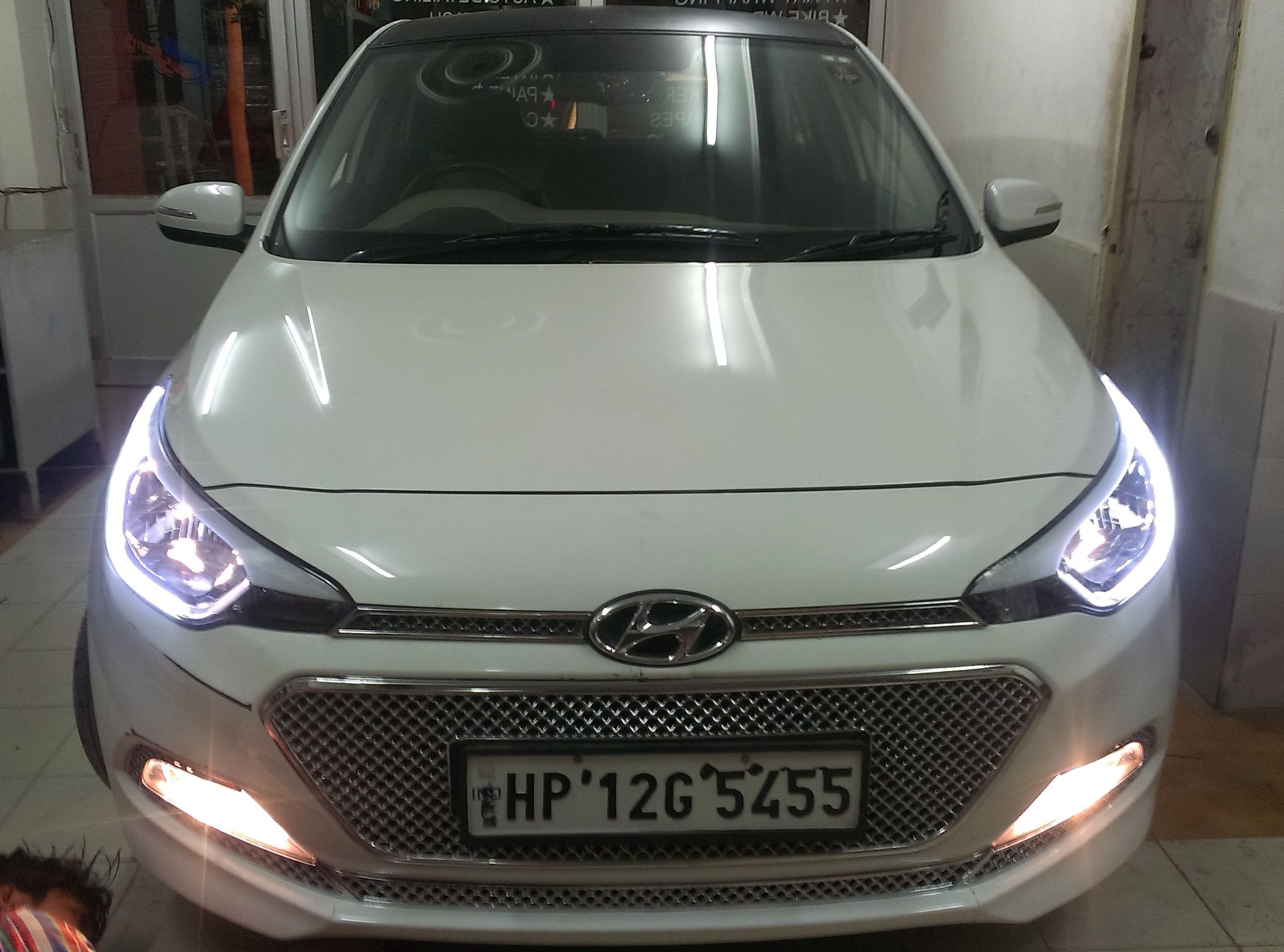 Hyundai I20 Elite Custom Headlights Drl Daytime Running
