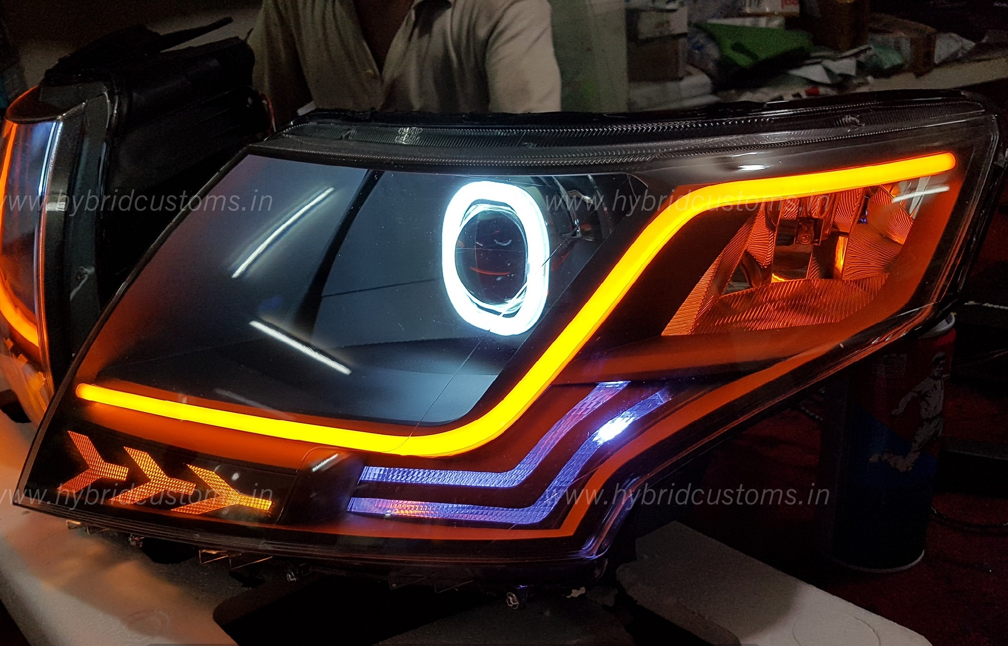 Mahindra Tuv 300 Custom Led Projector Headlights